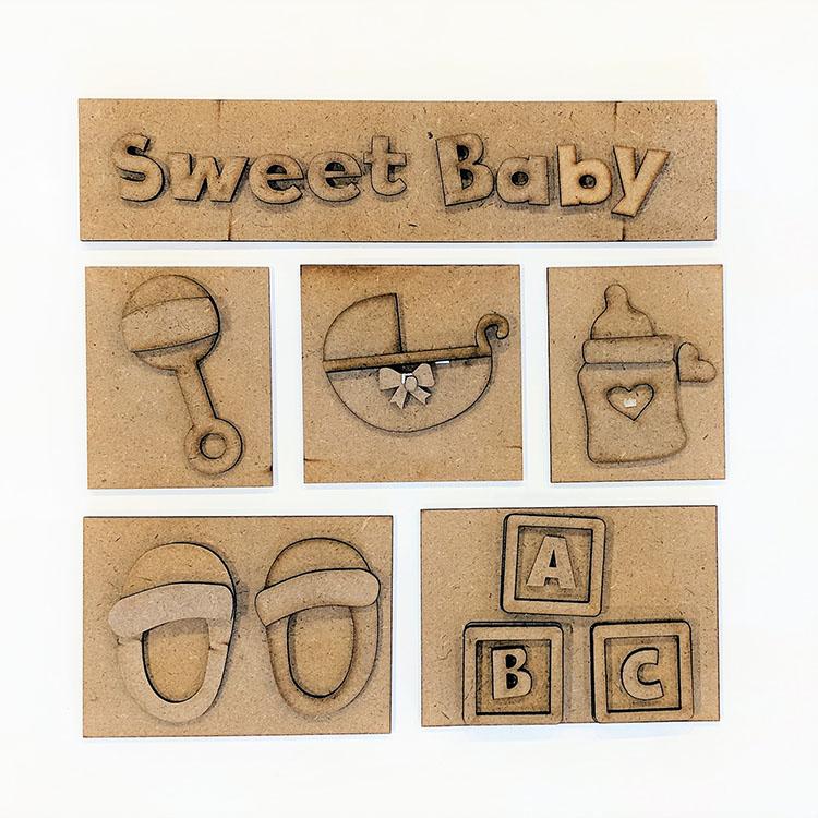 Shadow Box Kit, Sweet Baby