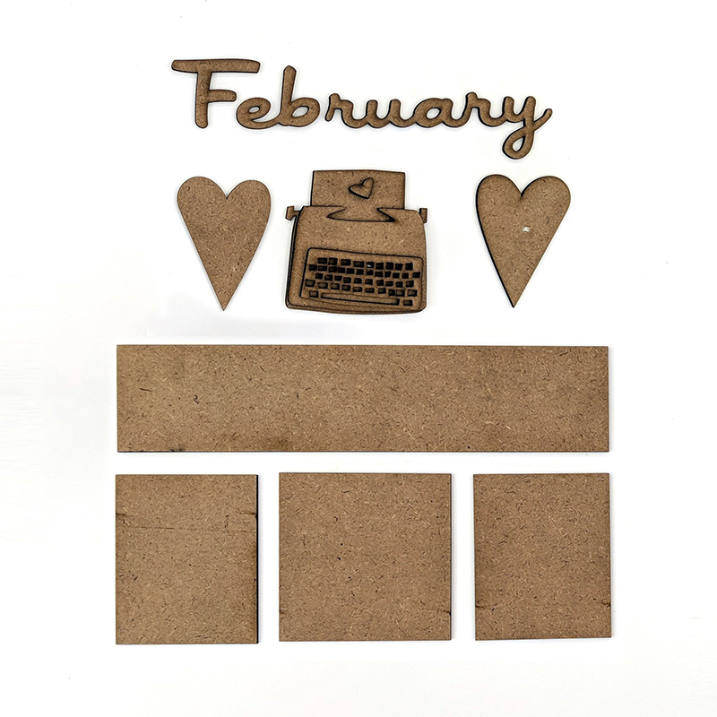 Magnetic Calendar Monthly Kit, February