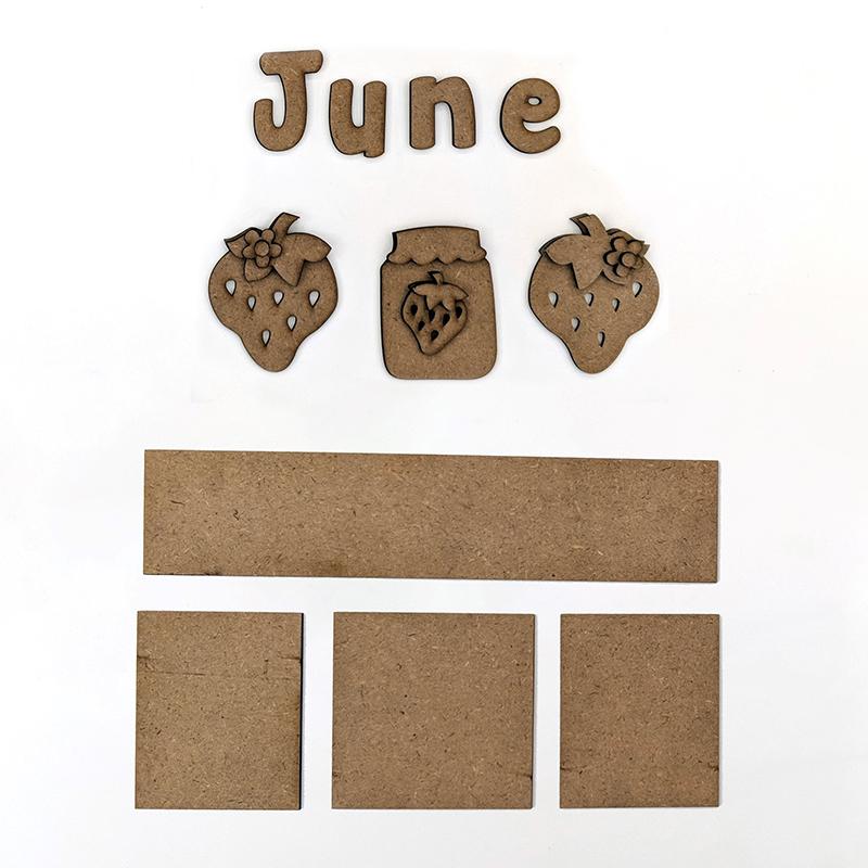 Magnetic Calendar Monthly Kit, June