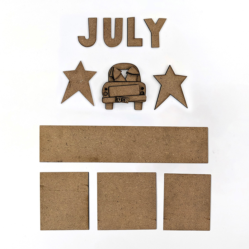 Magnetic Calendar Monthly Kit, July