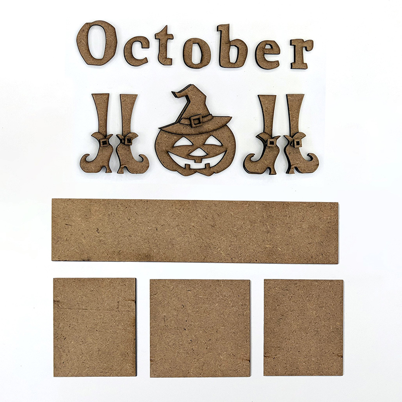 Magnetic Calendar Monthly Kit, October
