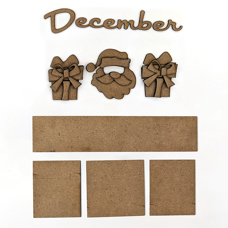 Magnetic Calendar Monthly Kit, December