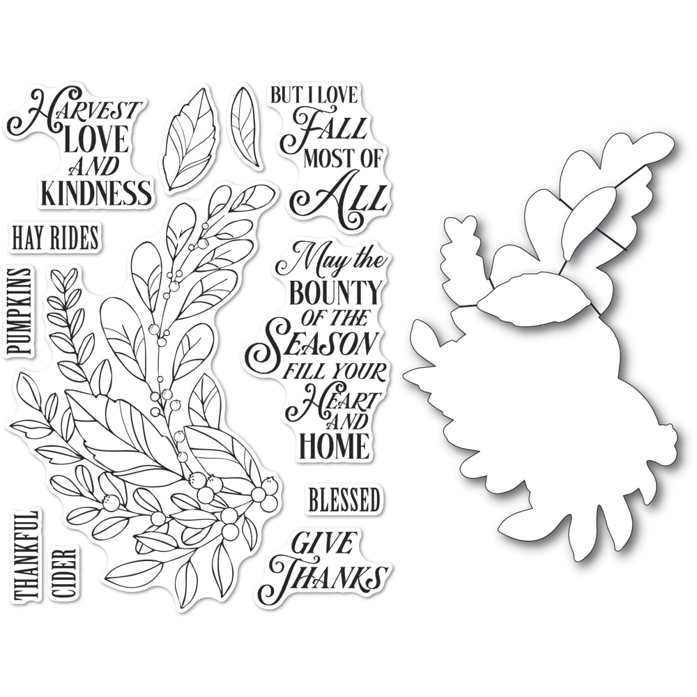 Clear Stamp & Die Combo, Harvest Love and Kindness