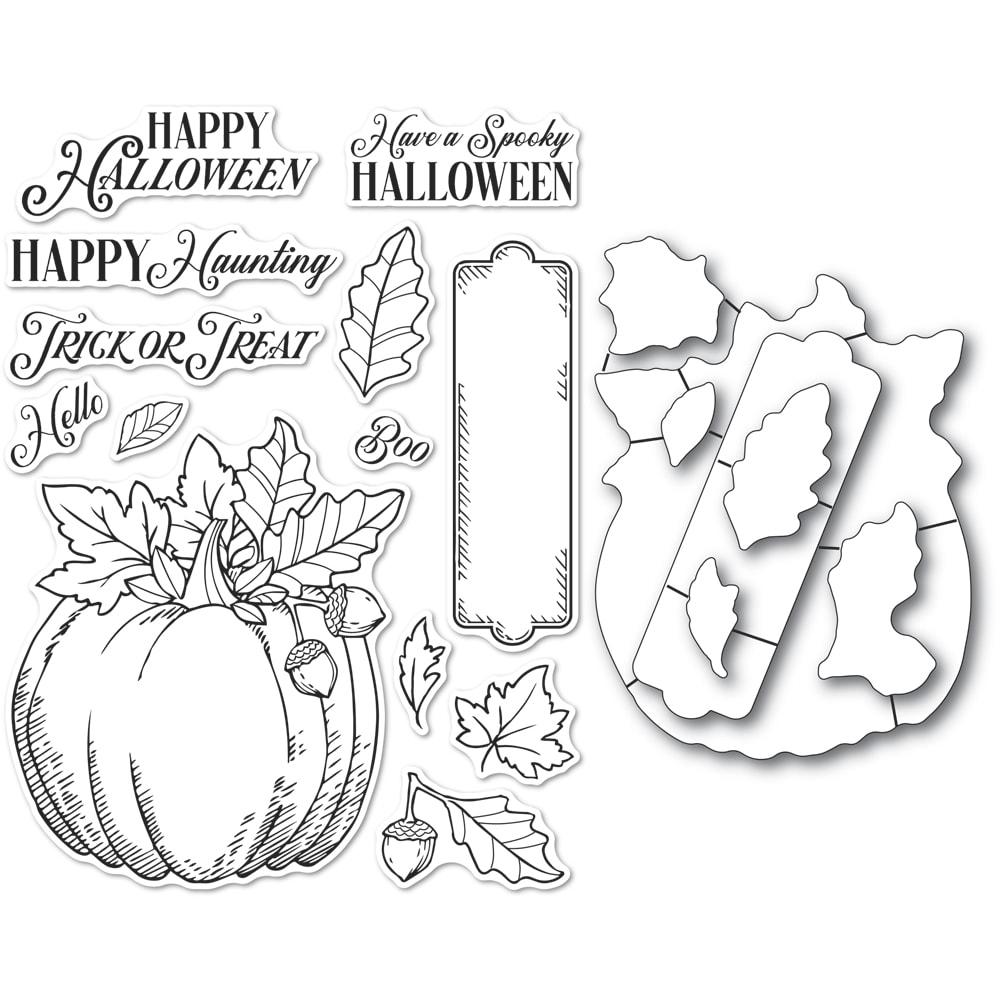 Clear Stamp & Die Combo, Halloween Pumpkin