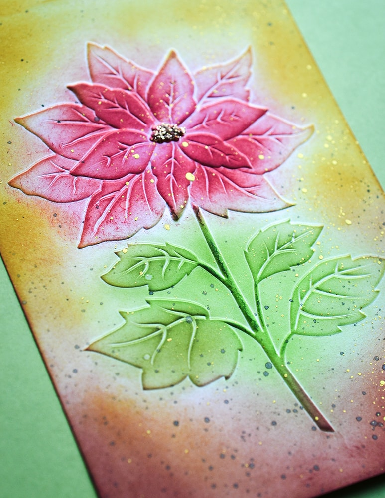 3D Embossing Folder, Magnificent Poinsettia