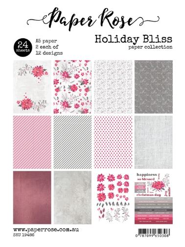 A5 Paper Pack, Holiday Bliss