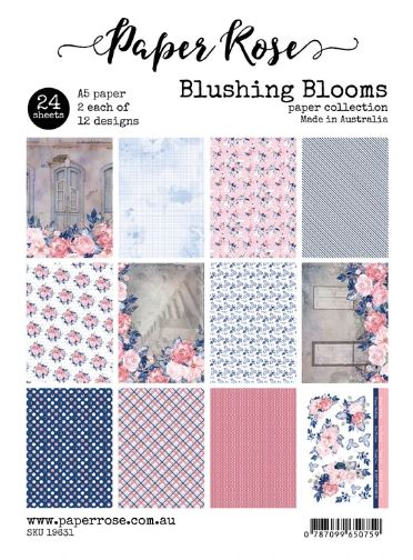 A5 Paper Pack, Blushing Blooms