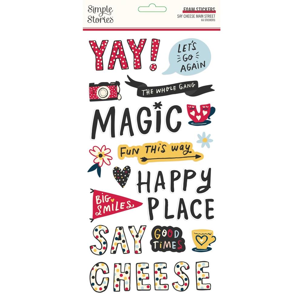Foam Stickers, Say Cheese Main Street