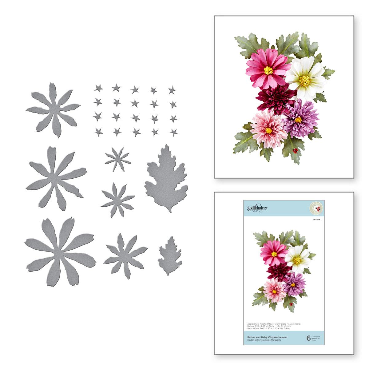 Die, Susan's Autumn Flora - Button & Daisy Chrysanthemum