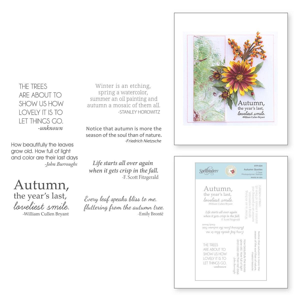 Clear Stamp, Susan's Garden Autumn Flora - Autumn Quotes
