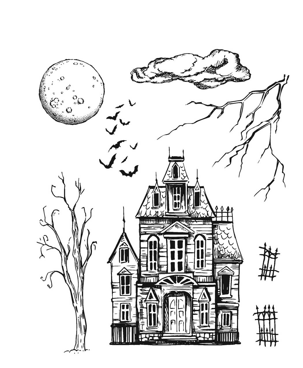 Cling Stamp, Sketch Manor