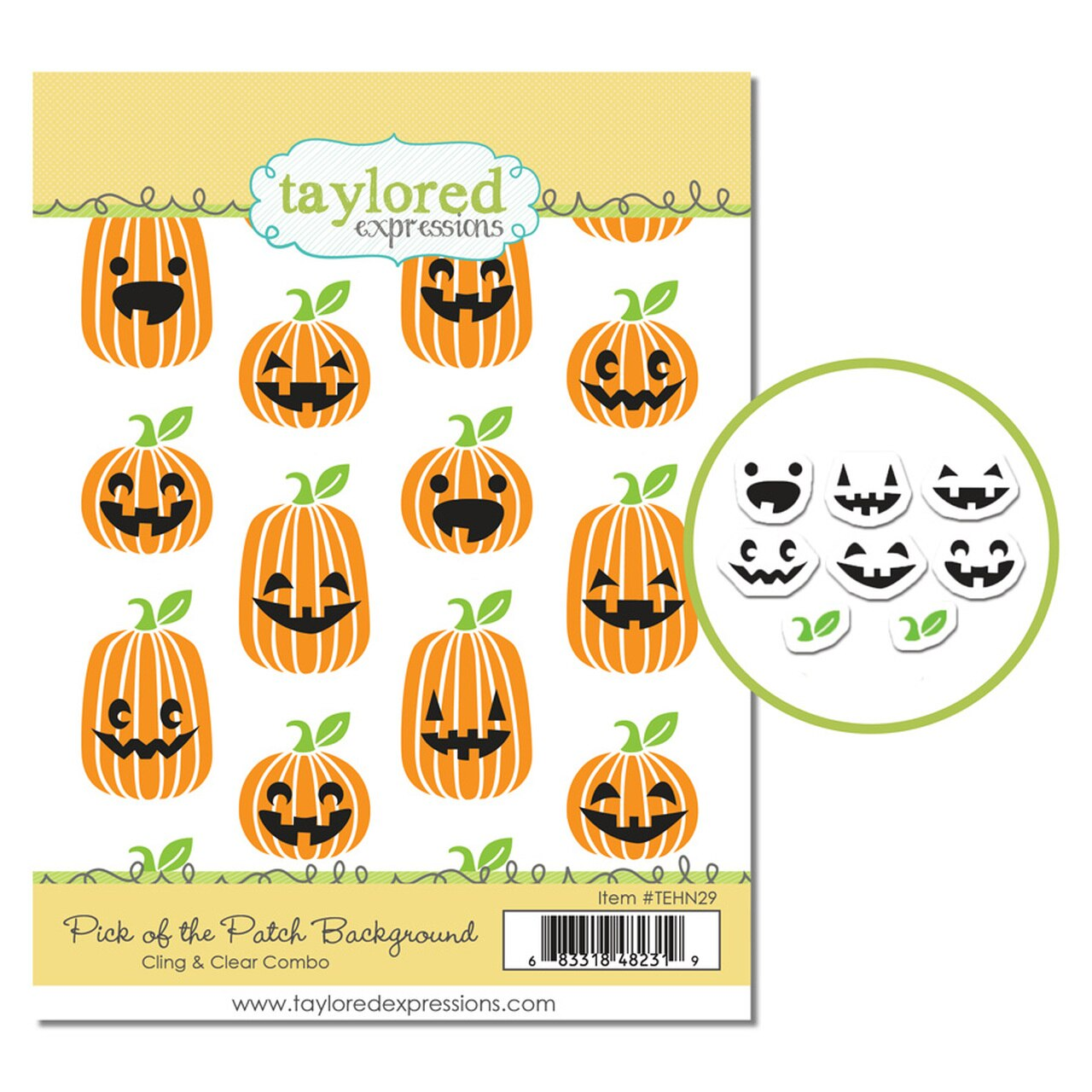 Cling & Clear Stamp Combo, Pick of the Patch