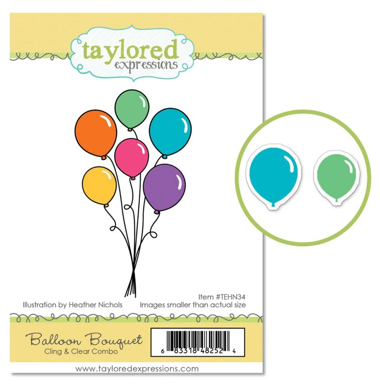 Cling & Clear Stamp Combo, BalloonBouquet