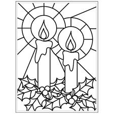Darice Christmas Embossing Folder Mosaic Candle 4.25 x 5.75