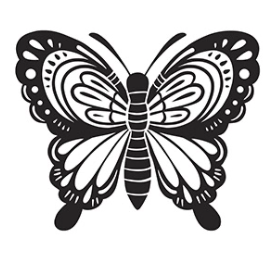 Butterfly Embossing Folder, 4.25 x 5.75 inches