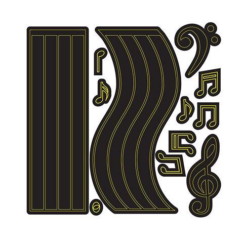 Darice® Craft Dies: Musical Staffs & Notes Set