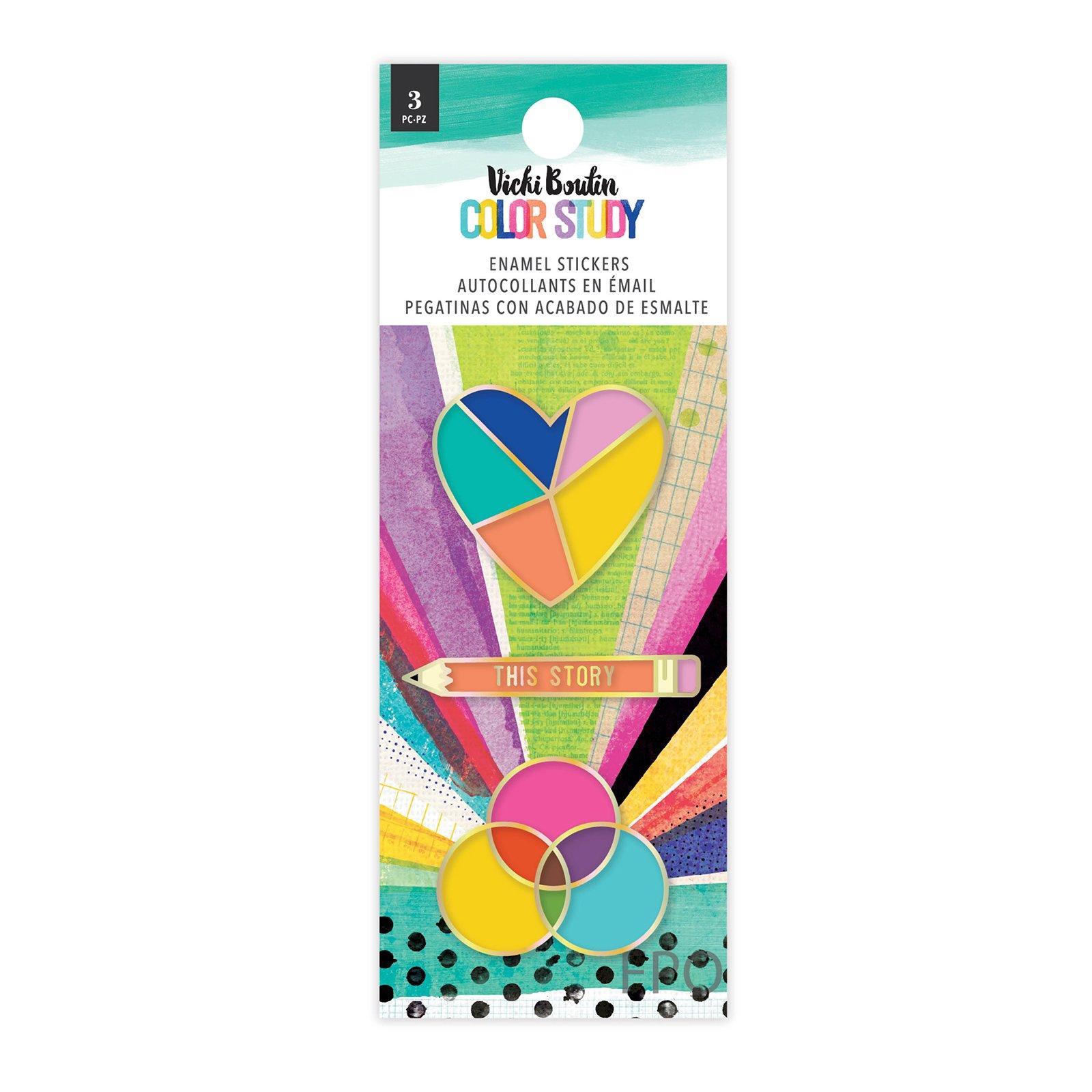 Enamel Stickers, Color Study