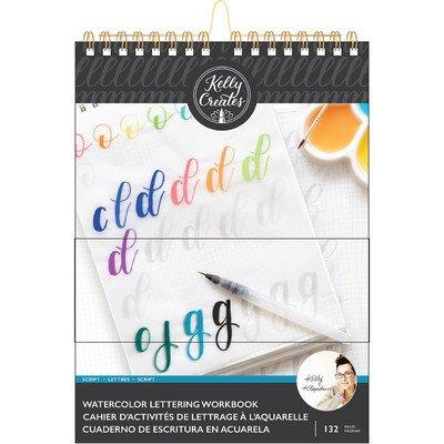 Kelly Creates 8.5X11 Watercolor Workbook, Script Lettering