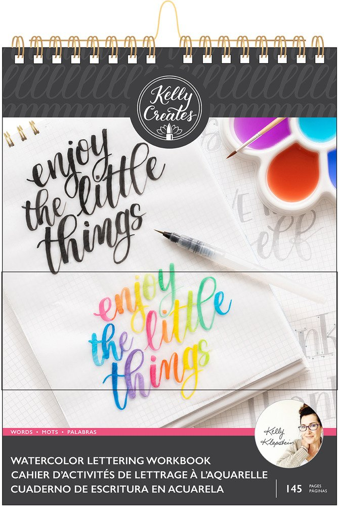 Kelly Creates 8.5X11 Watercolor Workbook, Words