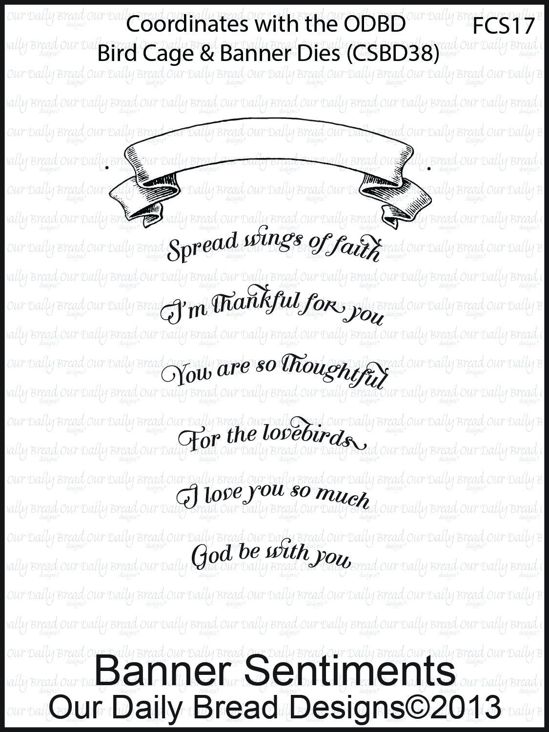 Clear Stamp, Banner Sentiments