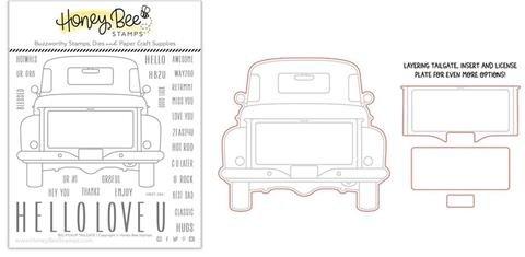 Clear Stamp & DIE , Big Pickup Tailgate