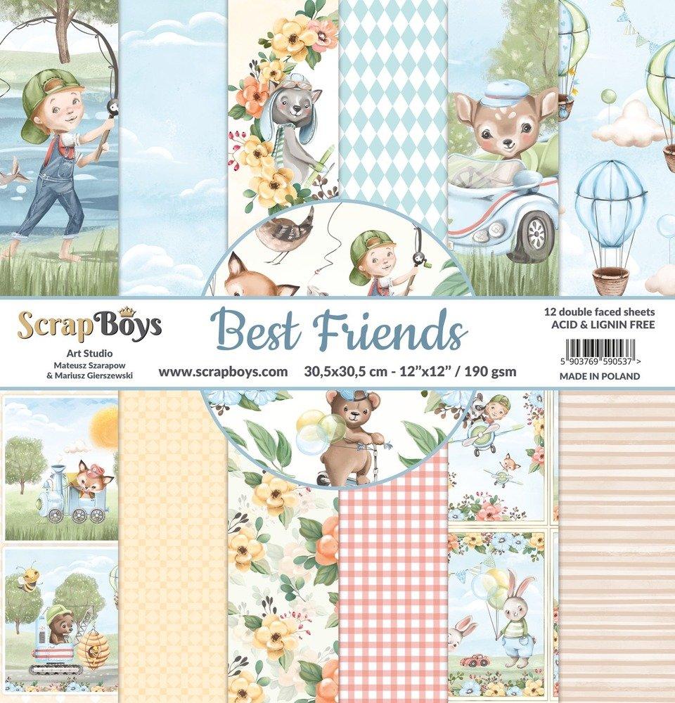 12X12 Paper Pad, Best Friends
