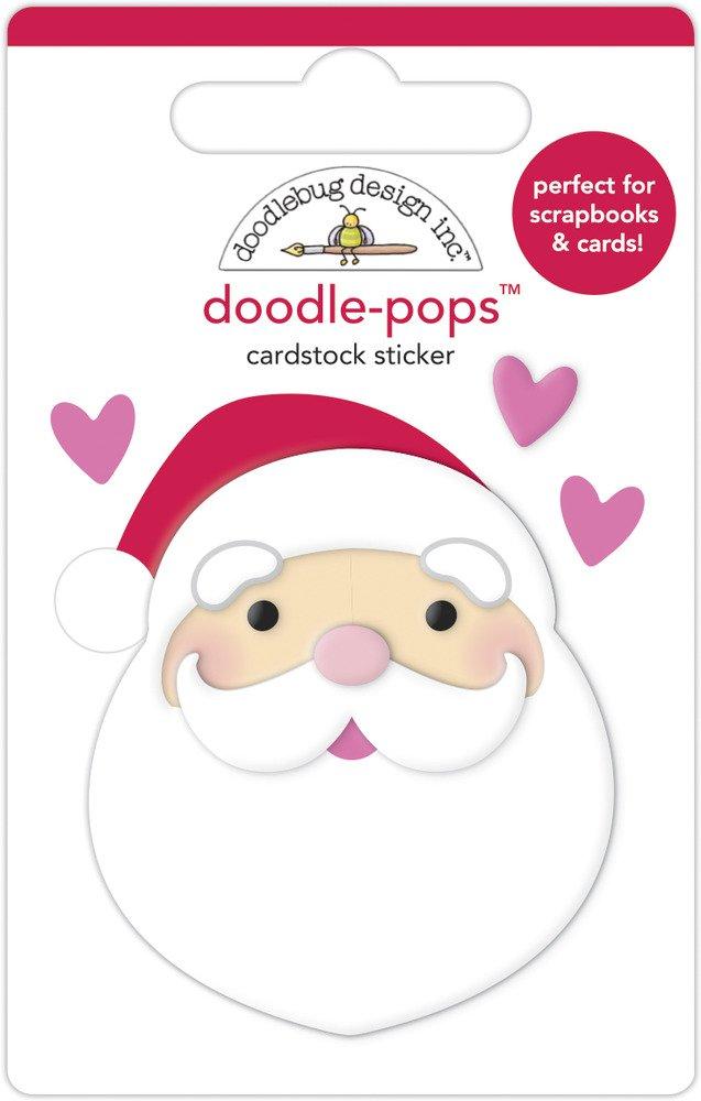 Doodle-pops 3D Cardstock Sticker, NBC - I Love Santa