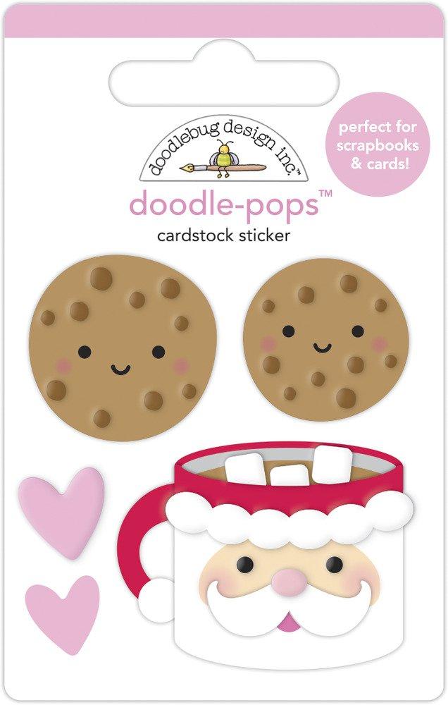 Doodle-pops 3D Cardstock Sticker, NBC - Cookies For Santa