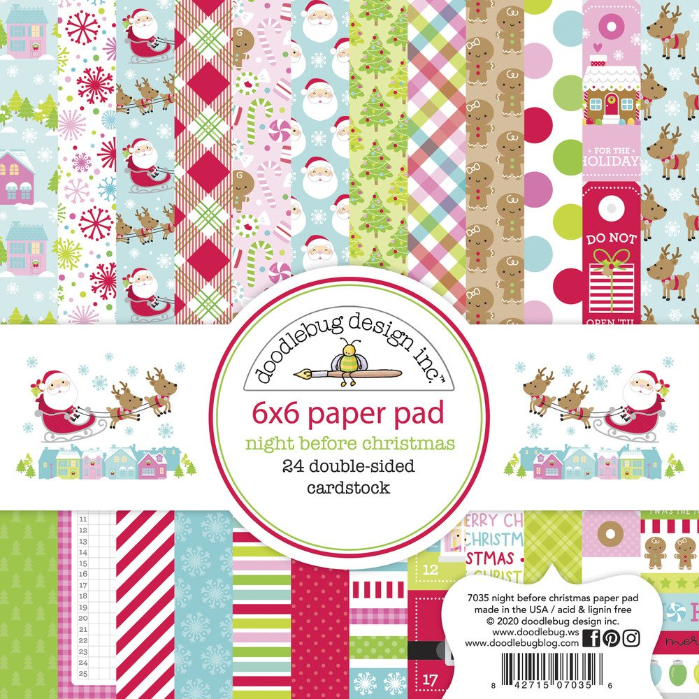 6X6 Paper Pad, Night Before Christmas