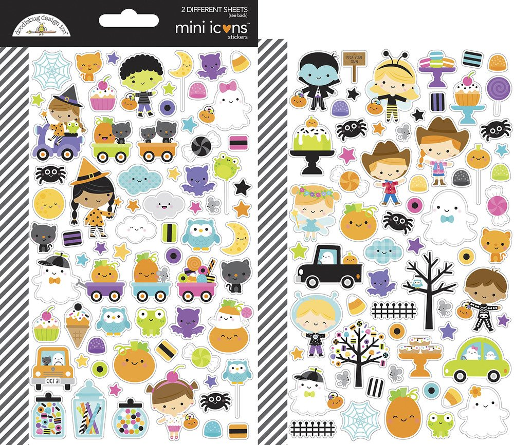 Mini Icons Cardstock Stickers, Ghost Town