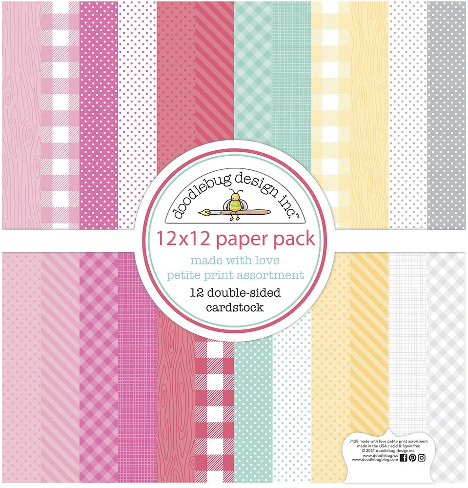 12X12 Petite Prints Cardstock Pack, Made with Love