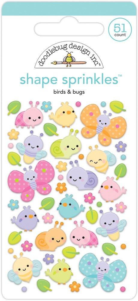 Shape Sprinkles, Fairy Garden - Birds & Bugs
