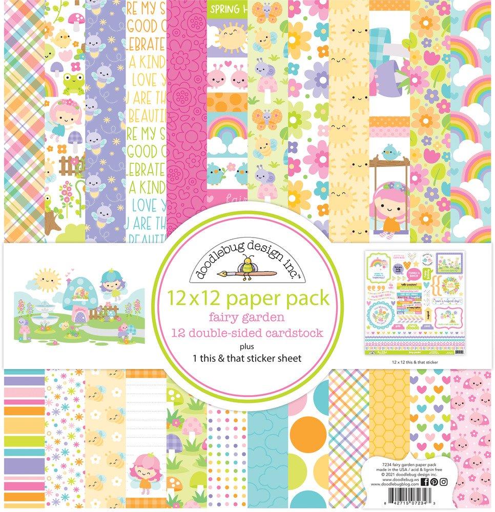 12X12 Paper Pack, Fairy Garden
