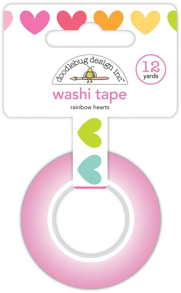 Washi Tape, Rainbow Hearts