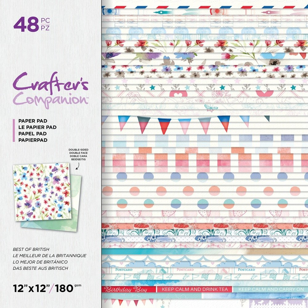 12X12 Paper Pad, Best of British