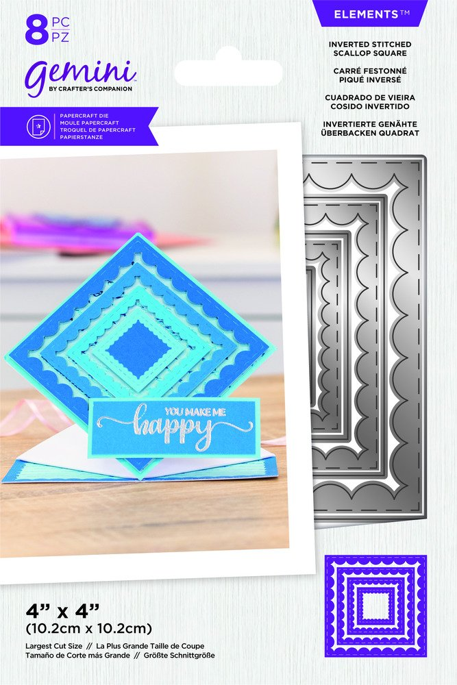 Gemini Elements Die, Inverted Stitched Scallop Square