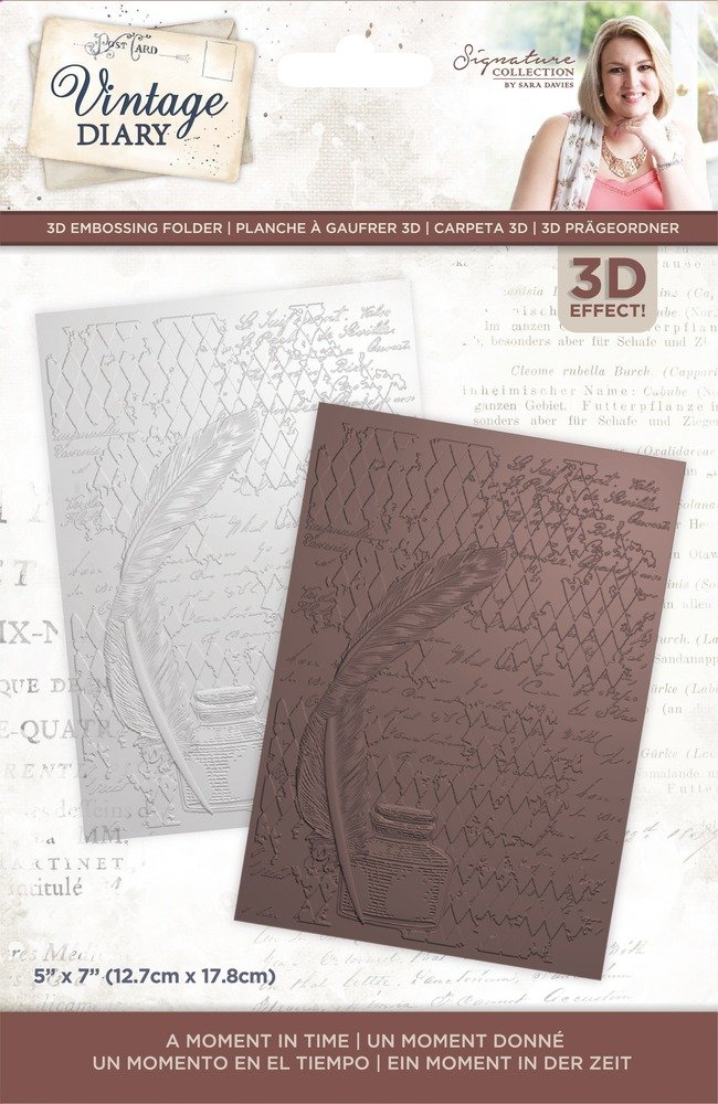 Sara Signature 3D Emb. Folder, Vintage Diary - A Moment In Time