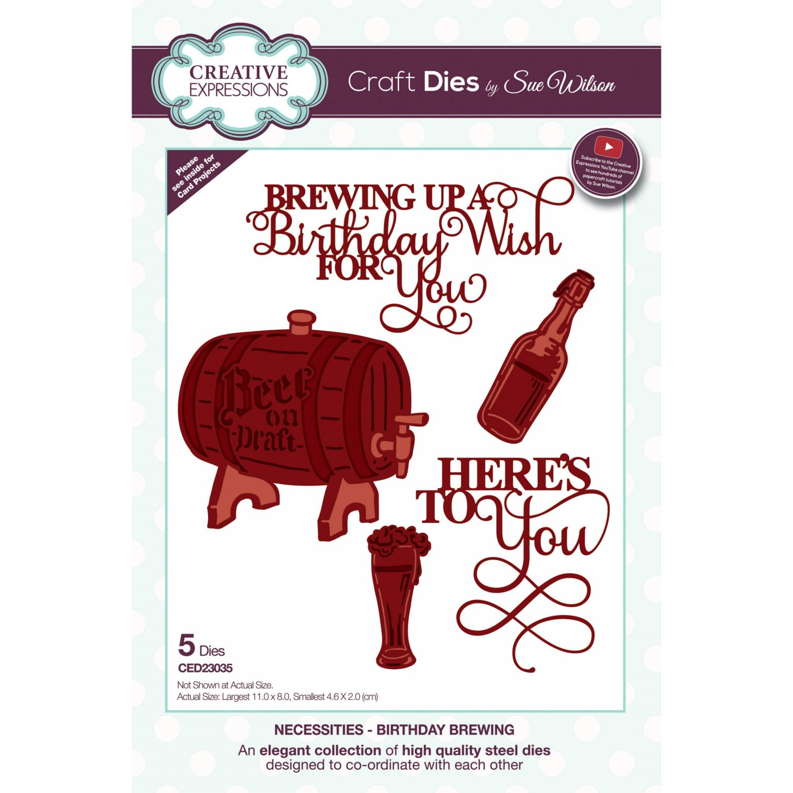 Creative Expressions Craft Dies By Sue Wilson-Necessities- Birthday Brewing