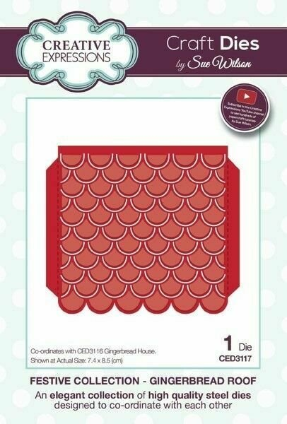 Creative Expressions Dies Festive Collection - Gingerbread Roof