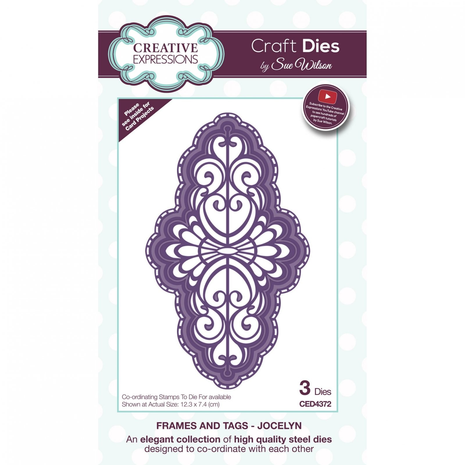 Creative Expressions Craft Dies By Sue Wilson-Frames & Tags-Jocelyn