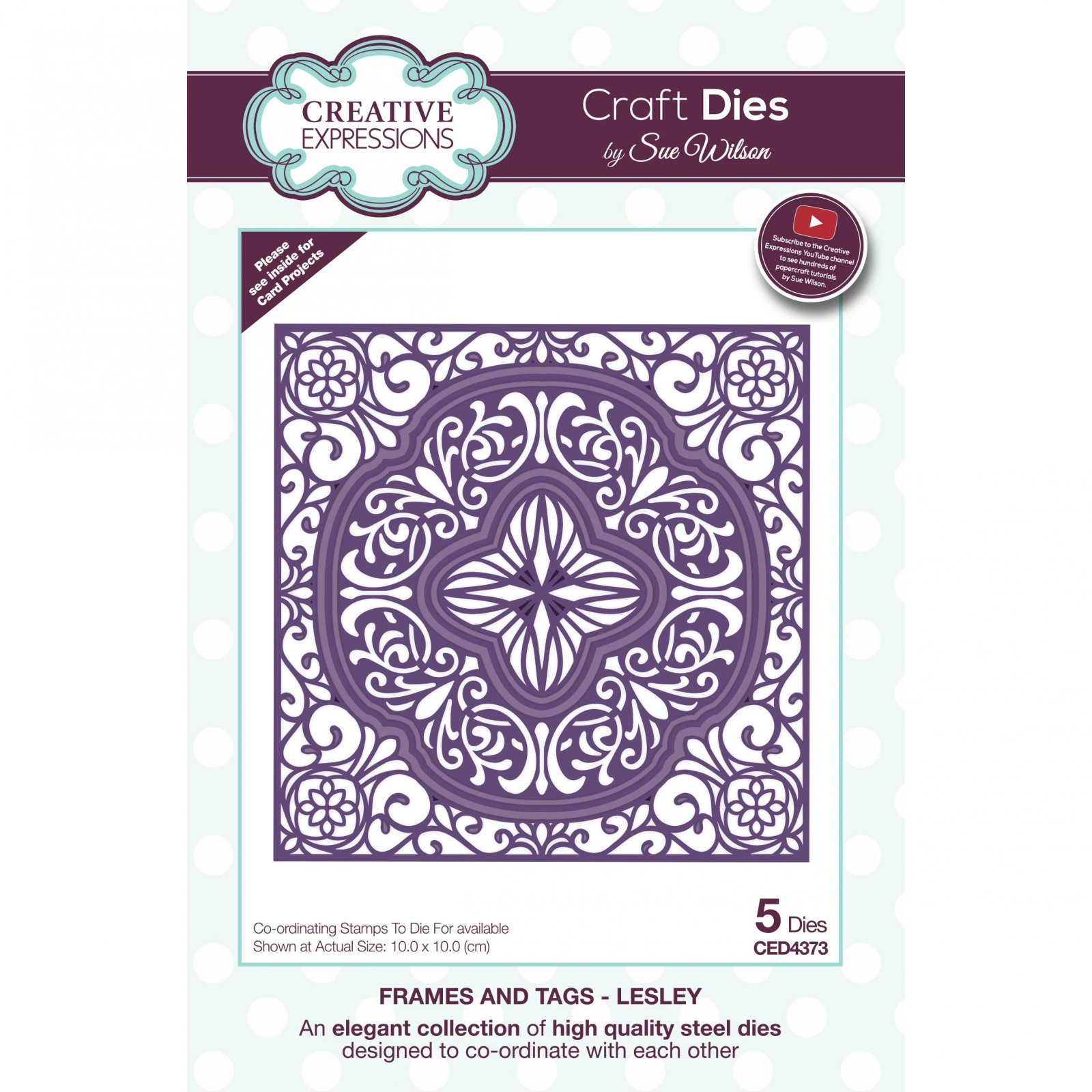 Creative Expressions Craft Dies By Sue Wilson-Frames & Tags-Lesley