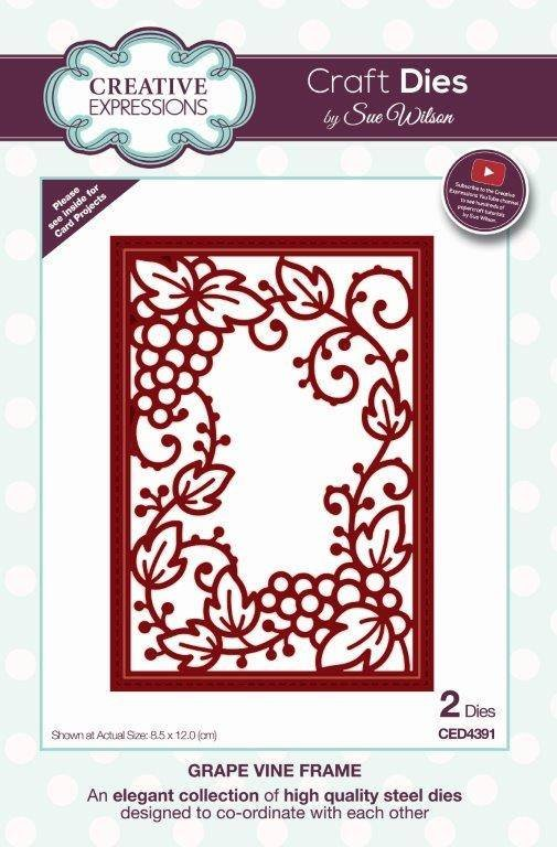 Creative Expressions Craft Dies By Sue Wilson-Frames & Tags-Grape Vine Frame