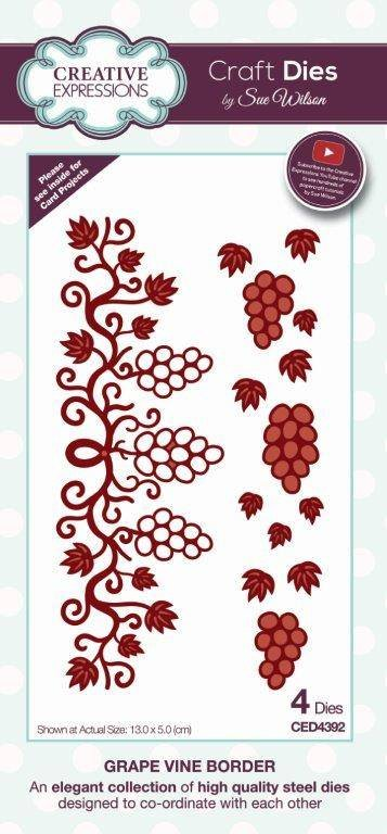 Creative Expressions Craft Dies By Sue Wilson-Frames & Tags-Grape Vine Border