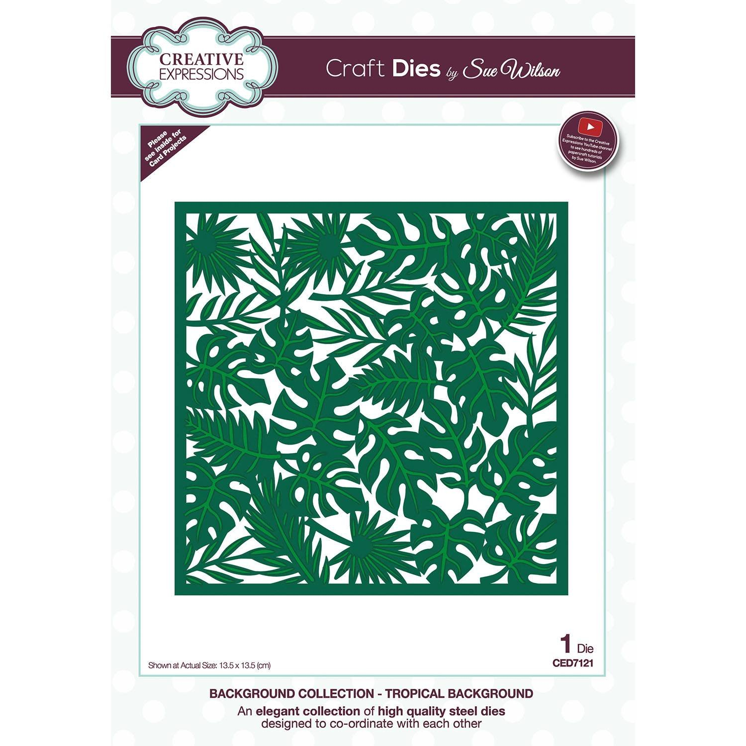Creative Expressions Craft Dies By Sue Wilson-Tropical Background