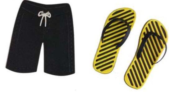 Die, Flip Flops & Board Shorts