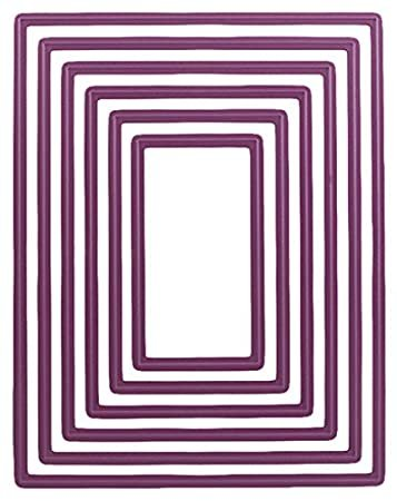 Die, Rectangle Classic LG Purple Stacker