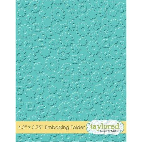TE FLOWER POWER Embossing Folder