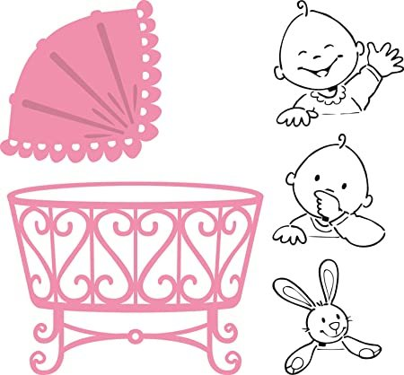 Collectables Set, Baby Crib