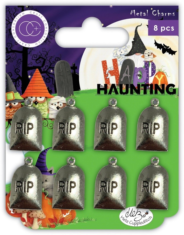 Metal Charms, Happy Haunting - Graves