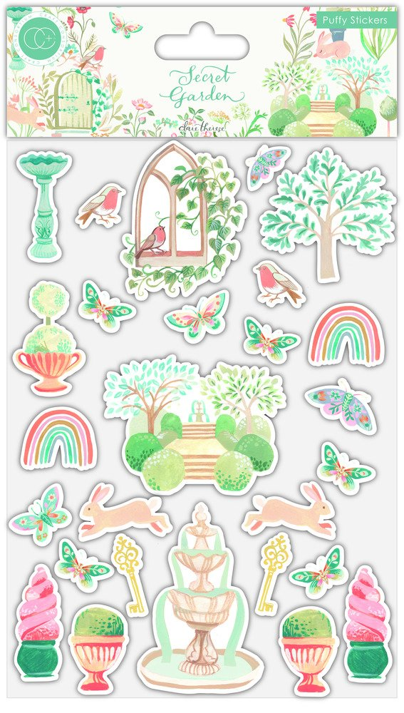 Puffy Stickers, Secret Garden